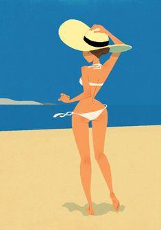 Xavier Ramonede (via Pin Up Girls Gallery) Character Art, Character Design, Summer Memories, Girls Gallery, Am Meer, Pin Up Art, Beach Art, Girl Cartoon, Pin Up Girls