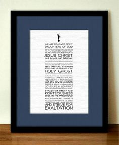Relief Society Declaration Subway Bookmark- Instant Printable Download