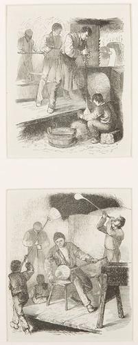 In de glasblazerij / het glasblazen - Anoniem, Nederlands (1850)
