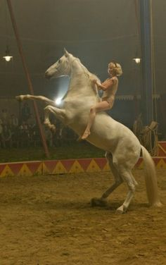 Reese Witherspoon In Water For Elephants. Saw the movie.  Probably will not go to another circus ever!!!