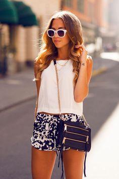 Shorts y blusas frescas