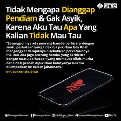 Tidak Mengapa Dianggap Pendiam  Gak Asyik, Karena Aku Tau Apa Yang Kalian Tidak Mau Tau Reminder Quotes, Self Reminder, Mood Quotes, Positive Quotes, Life Quotes, America Quotes, Quran Quotes Inspirational, Religion Quotes, Islamic Quotes Wallpaper