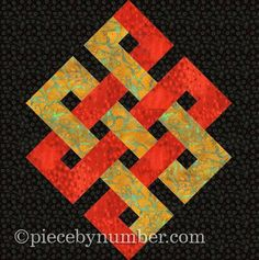 Eternity Knot Paper Pieced Quilt Block pattern on Craftsy.com  $3.00