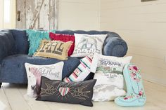 Junk Gypsies throw pillows for their PB Teen collection. Enter for your chance to win one of five $50 giftcards so you can get this item! > http://blog.gactv.com/blog/2014/07/31/the-junk-gypsies-collaborate-with-pottery-barn-teen/?soc=pinterest
