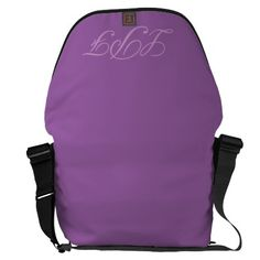 Purple monogram Rickshaw messenger bag. Add your own initials or personalize it how you wish. Other colors to chose from in my store.