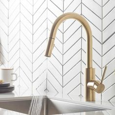 Brushed Gold Kitchen Faucet Pull Out Stainless Steel Kitchen Sink Water Tap Single Handle Mixer Tap 360 Rotation Kitchen Shower Faucet | Wish Gold Kitchen Faucet, Kitchen Shower, Kitchen Handles, Stainless Steel Kitchen, Best Kitchen Sinks, Bar Faucets, Water Tap, Lounge, Faucet Handles
