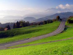 Sunny morning in Rhine Valley, Switzerland.