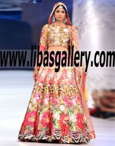 Extremely Surprising Designer Digital floral Print Wedding Lehenga The latest digital fashion dresses and collections Splendour and opulence techniques such as 3D printing www.libasgallery.com  .¸¸.•*¨*•xo, Princess♡•*¨*•.¸¸. #UK #USA #Canada #Australia #Saudi #Arabia #Bahrain #Kuwait #Norway #Sweden #NewZealand #Austria #Switzerland #Germany #Denmark #France #Ireland #Mauritius and #Netherlands  #bcw #PLBW2016 #bridalwear #desibride #pfdc #plbw16 #Nomiansari