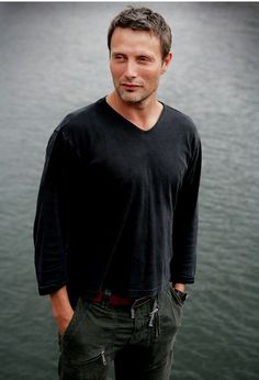Mads Mikkelsen. Fantastic actor with very unique facial features.
