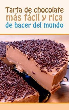 Tarta de chocolate más fácil y rica de hacer del mundo