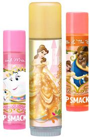 Lip Smacker Disney Belle Beauty and Beast Pretty Princess Lip Gloss Trio Collection Cream & Sugar, Tea Party Treats (Biggie) & Butterscotch Carded