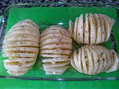 Mi Diversión en la cocina: Patatas Hasselback con Nuggets de Pollo