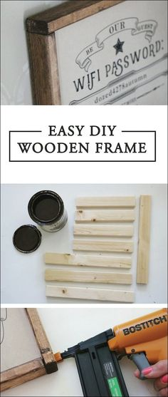 How to Make a Large Poster Frame {for only $6   room   Pinterest ...