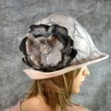 White felted wool hat 2
