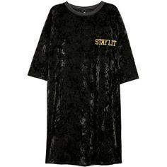 Velvet T-shirt Dress $17.99 (1.020 RUB) ❤ liked on Polyvore featuring dresses, velvet dress, tee shirt dress, short sleeve tee shirt dress, tee dress and straight dresses