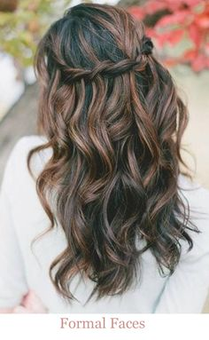 Beach Bridal Hairstyles ~ Half up with braid by Formal Faces