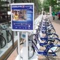 The Charlotte B-cycle bike share program has 200 bikes available for rent uptown. -DNC In The CLT