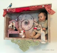 Assemblage: Doll Shadow Box by *bugatha1 on deviantART