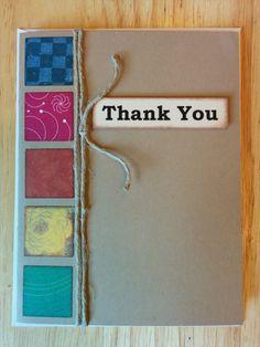 Rainbow Block Thank You Card by Cindysnoopy on Etsy, $3.50