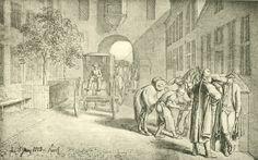 Chodowiecki, Der Aufenthalt in Pyritz (Danziger Skizzen, 1773).
