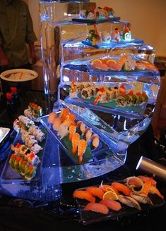 ice sculpture food service stations - seafood station