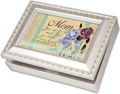 Cottage Garden Mom Champagne Silver Music Box /Jewelry Box Plays Amazing Grace >>> You can get more details by clicking on the image.