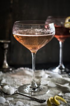 Simple Champagne Cocktails for Valentines Day — Up Close & Tasty