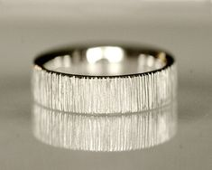 Another really cool texture option . . . Wedding band mens wedding ring unisex 14k white by TinkenJewelry,