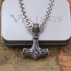 dropshipping 1pcs thor's hammer mjolnir pendant necklace viking scandinavian norse viking necklace Men gift //Price: $19.72 & FREE Shipping //     #hashtag2