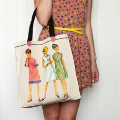 Vintage Sew Pattern Totes + Clutches