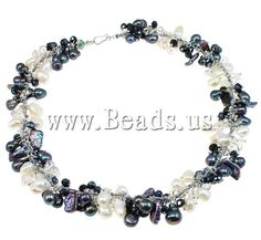 Freshwater Cultured Pearl Bracelet, with crystal & brass hook & eye clasp, 24mm, Length:9.5 Inch - Beads.us