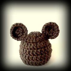 baby hat for boy or girl  baby bear hat brown bear by crochetedcuddles, $14.95  #bear #baby #brown #boy