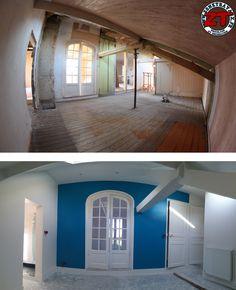 Il est temps de mettre de la couleur dans notre chantier ! La restauration de la maison prend forme :)