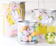 Cute idea for an Easter party favor. Simply fill it with candy or adorn it with your own handmade craft. All stamps, dies, and card stock by A Muse Studio. Mini Paint Can with Lid 3x3 and 3x4. #cas #diy #stamping #handstamped #papercrafts #cardideas #amusestudio
