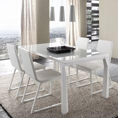 Prisma 5 Piece Dinning Set - White