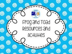 Frog and Toad Resources and Activities Pinterest Board