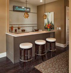 modern home bar design with green glow | Tables | Pinterest | Bar ...