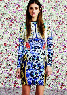 Topshop Mary Katrantzou Bodycon Dress