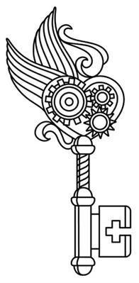 Image result for steampunk key stencils