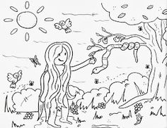 Free Sunday School Coloring Sheets - Free Sunday School Coloring Sheets , Coloring Pages 45 Remarkable Sunday School Coloring Pages Coloring Sheets, Coloring Books, Sunday School Coloring Pages, Bible Activities For Kids, Garden Of Eden, Christmas Crafts, Drawings, Free, Memories