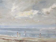 Watching the Seagulls Bird Artists, Irish Landscape, Irish Art, Connemara, Painting People, Seascape Paintings, Ocean Art, Selling Art, Paintings For Sale