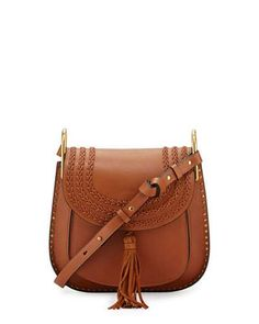 CHLOÉ Hudson Medium Shoulder Bag, Caramel. #chloé #bags #shoulder bags #lining #suede #