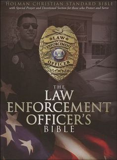 Hcsb Law Enforcement Officers Bible Black Simulated Leather