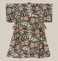 Meisen silk kimono. 1940-1960, Japan.The Kimono Gallery