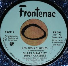 "GILLES GIRARD  SUPER CLASSELS...1977..LES TROIS CLOCHES....VERSION ""DIS... Gabriel, Ontario, Tube Video, Videos, Youtube, Songs, Music, Video Clip, Youtube Movies"