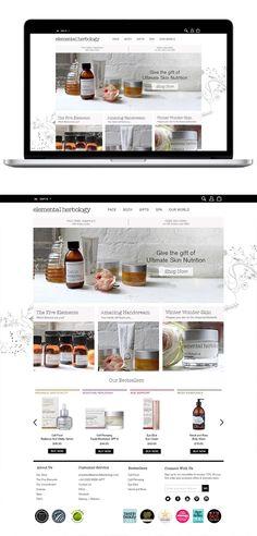 Elemental Herbology | Luxury Skincare | Website Design