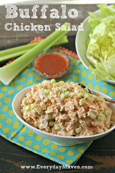 4-Ingredient Buffalo Chicken Salad. The easiest and tastiest twist on Chicken Salad in no time!