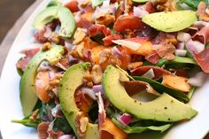 Prosciutto, Melon, and Spinach Salad  @CupcakesOMG