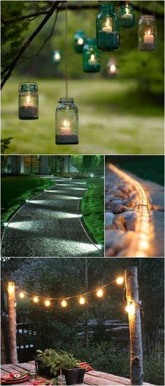 10 Outdoor Lighting Ideas - the middle two would be good for our long driveway: