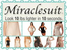 Want to look 10 pounds lighter in 10 seconds? Then try some Miraclesuit Shapewear. Miraclesuit Shapewear will not only make you look instantly thinner, it will also give you a wonderfully smooth silhouette under your clothes. Click on the pic or link below to read more about #miraclesuit #shapewear http://www.mirandareviews.co.uk/miraclesuit-shapewear/